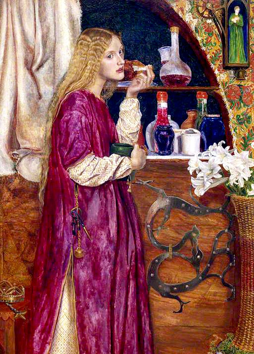 Valentine Cameron Prinsep: The Queen was in the Parlour, eating bread and h