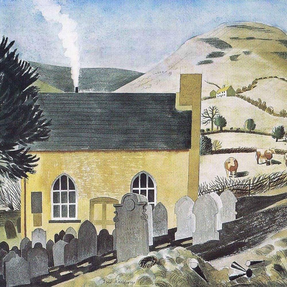 Eric Ravilious: Duke of Hereford's Knob & Baptist Chapel, Capel-y-ffin, Pow