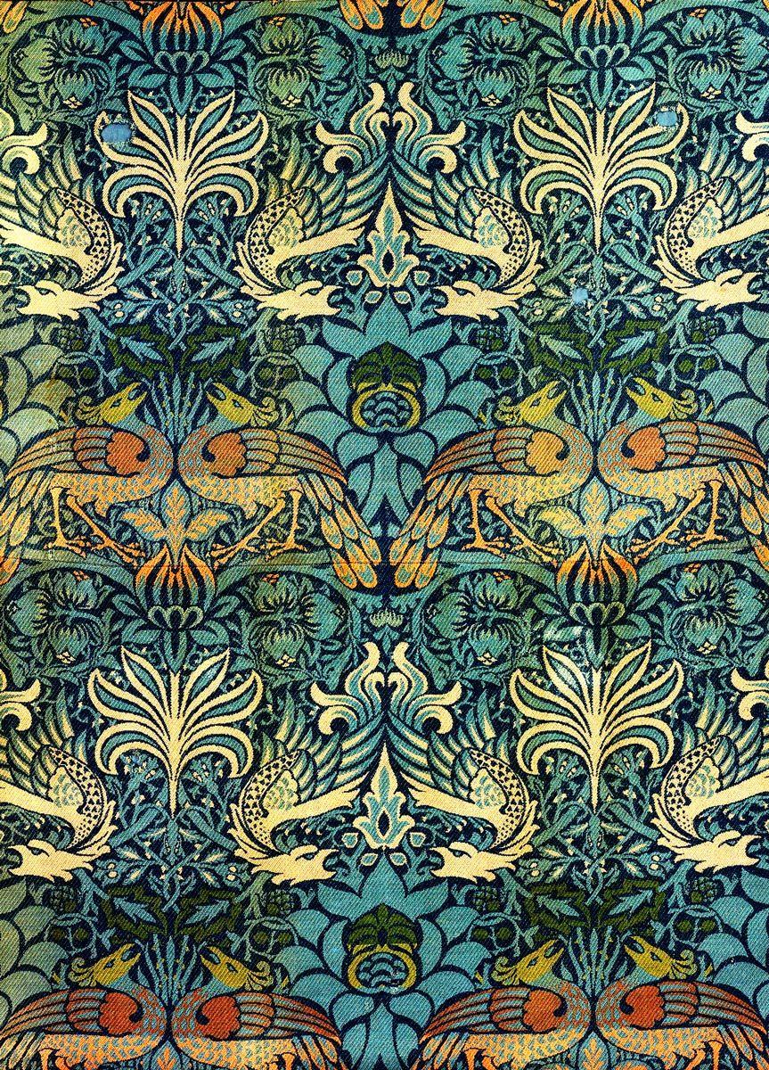 William Morris: Peacock and Dragon, 1878