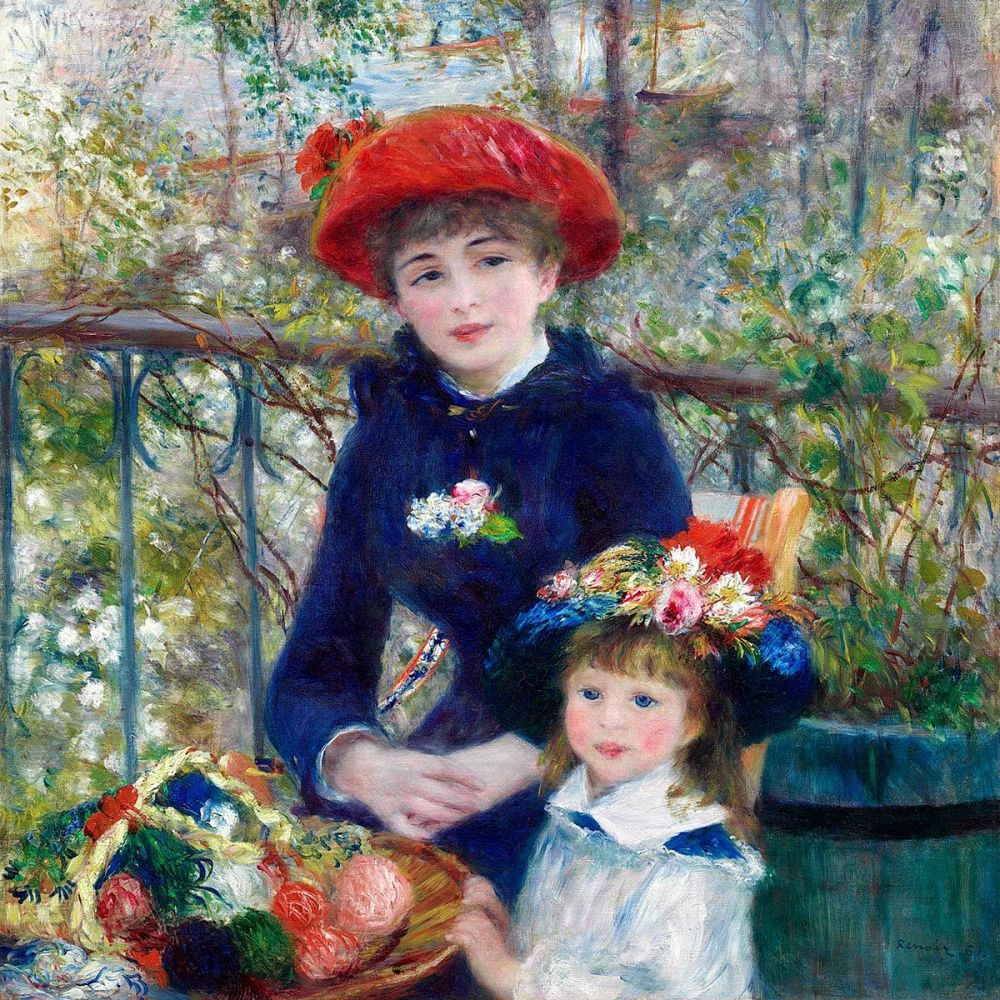 Pierre-Auguste Renoir: Two Sisters (On the Terrace) 1881