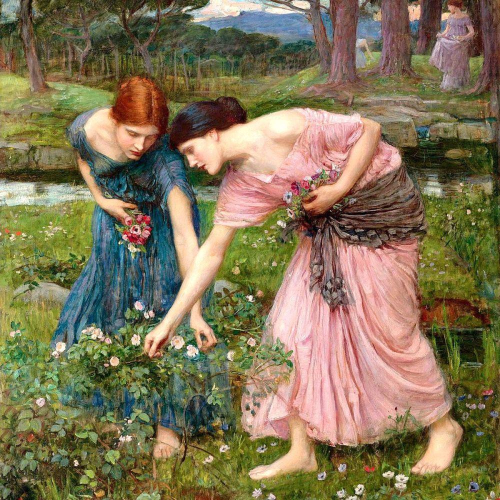 John William Waterhouse: Gather ye Rosebuds While Ye May, 1909