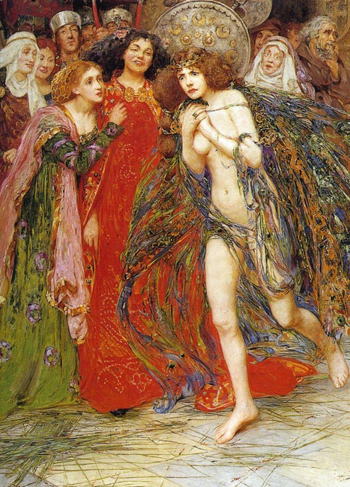 Isobel Lilian Gloag: The Magic Mantle, 1898 (detail)
