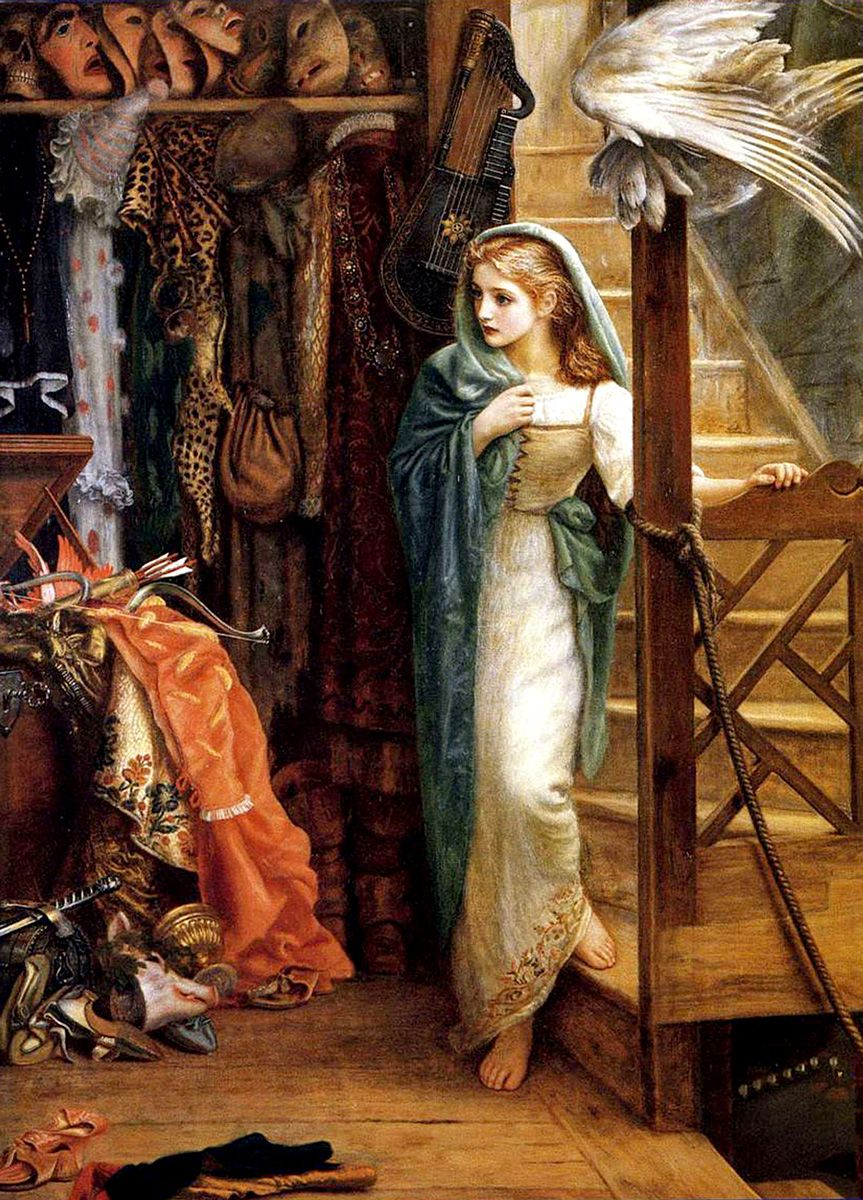Arthur Hughes: The Property Room, 1879