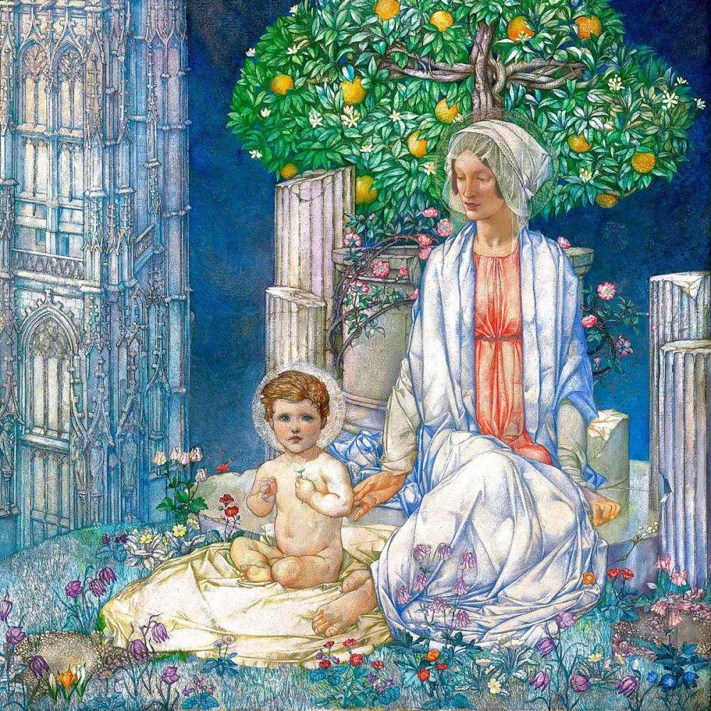 Edward Reginald Frampton: Our Lady of Promise (detail)