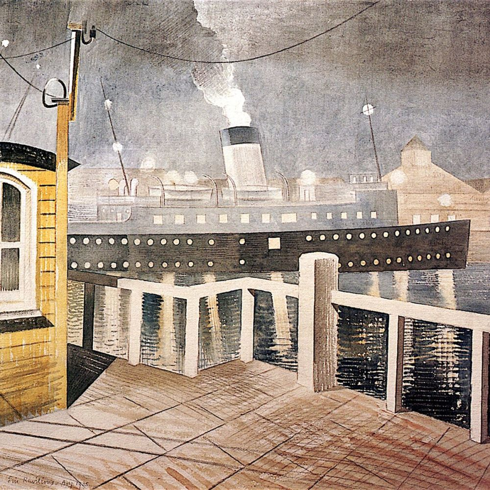 Eric Ravilious: Channel Steamer leaving Harbour