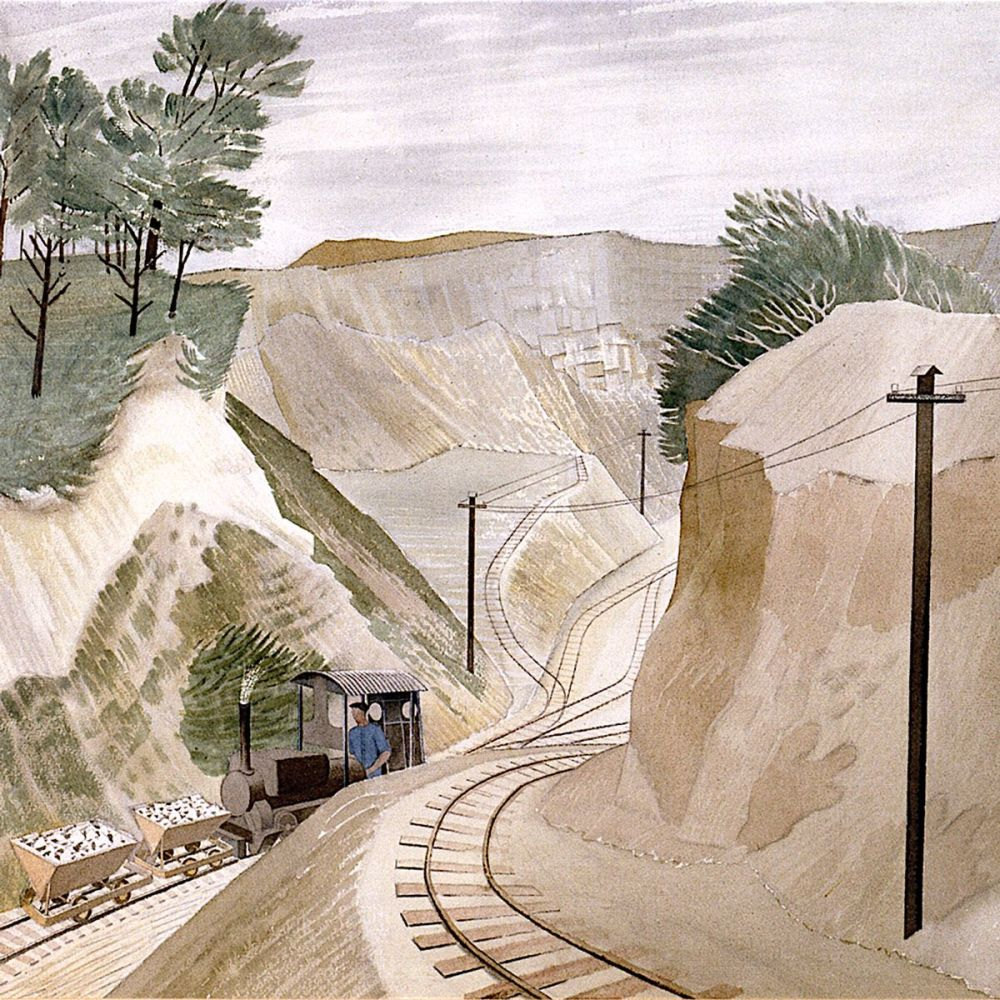 Eric Ravilious: The Cement Pit, 1934 (detail)