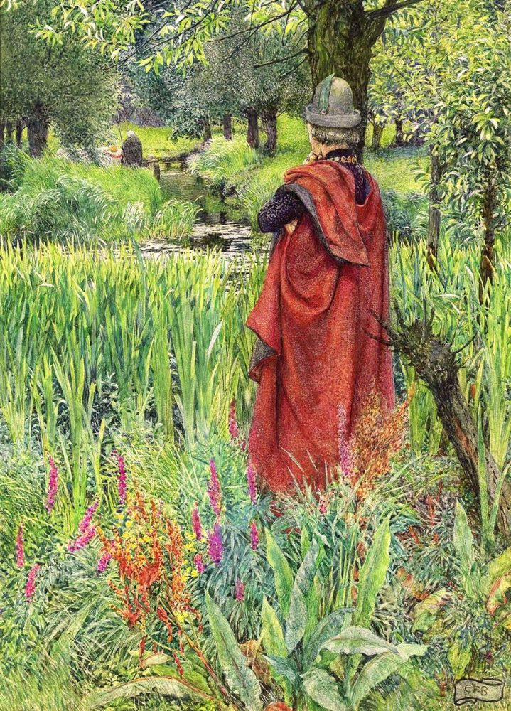 Eleanor Fortescue Brickdale: Fairwell, Fair Lily