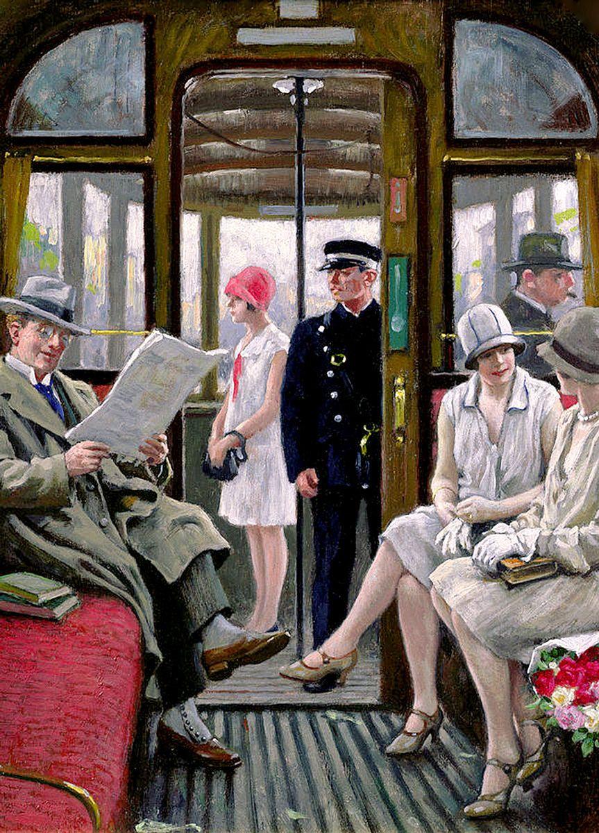 Paul Gustav Fischer: Copenhagen Tram