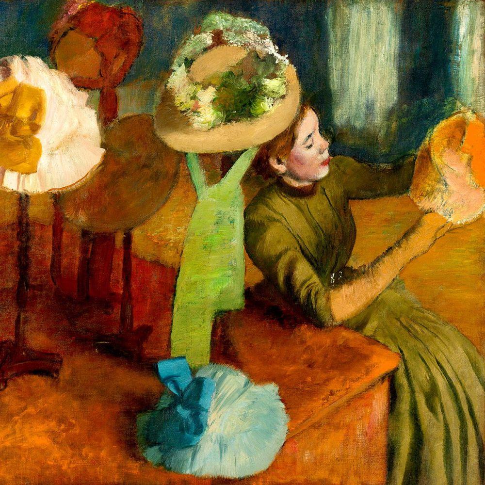 Edgar Degas: The Millinery Shop