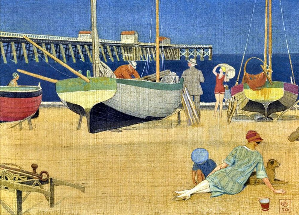 Joseph Edward Southall : A Golden Evening, Southwold, 1926