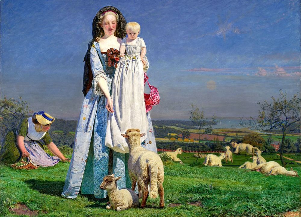 Ford Madox Brown: Pretty Baa-Lambs