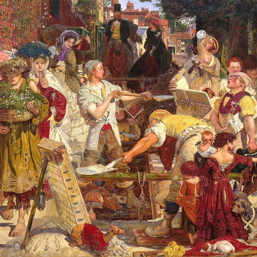 Ford Madox Brown: Work, 1863 (detail)