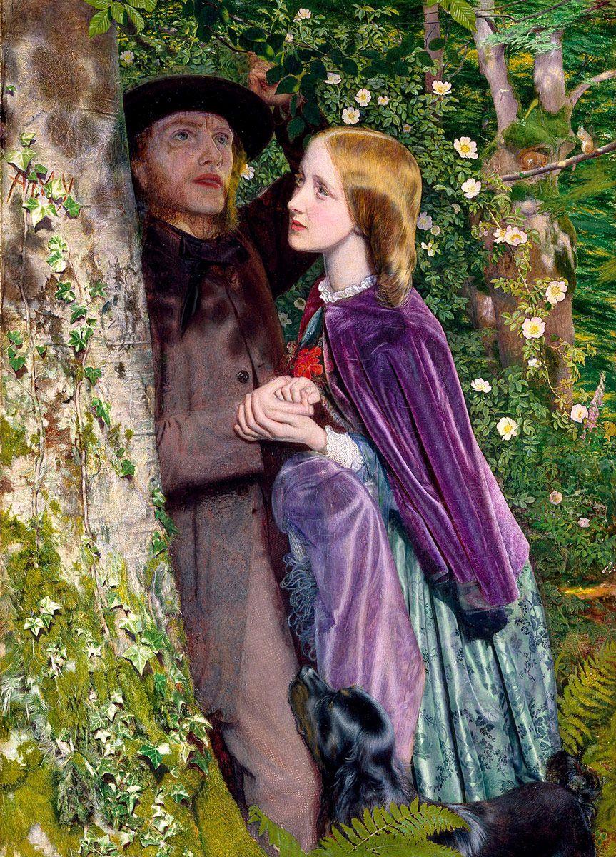 Arthur Hughes: The Long Engagement, 1859