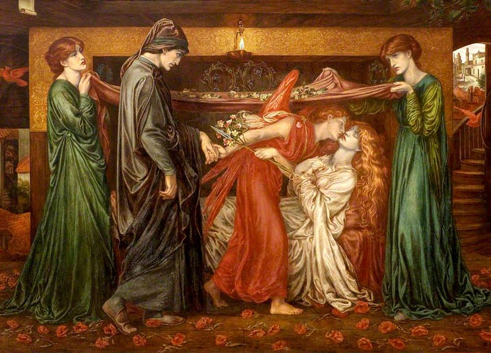 Dante Gabriel Rossetti: Dante's Dream on the Day of the Death of Beatrice