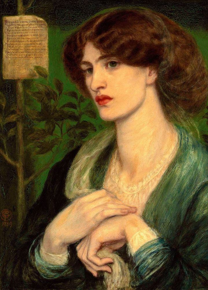 Dante Gabriel Rossetti: The Salutation of Beatrice, 1869