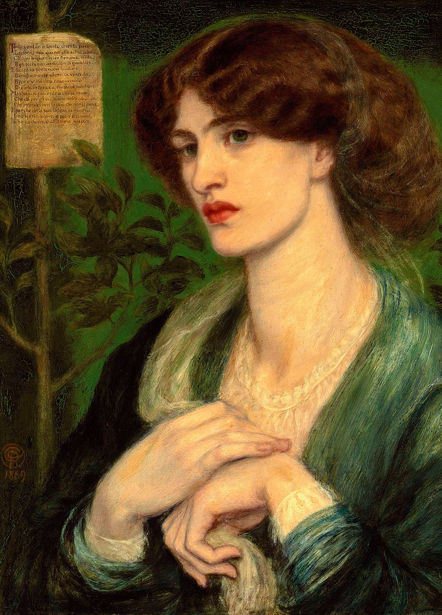 Dante Gabriel Rossetti: The Salutation of Beatrice, 1869
