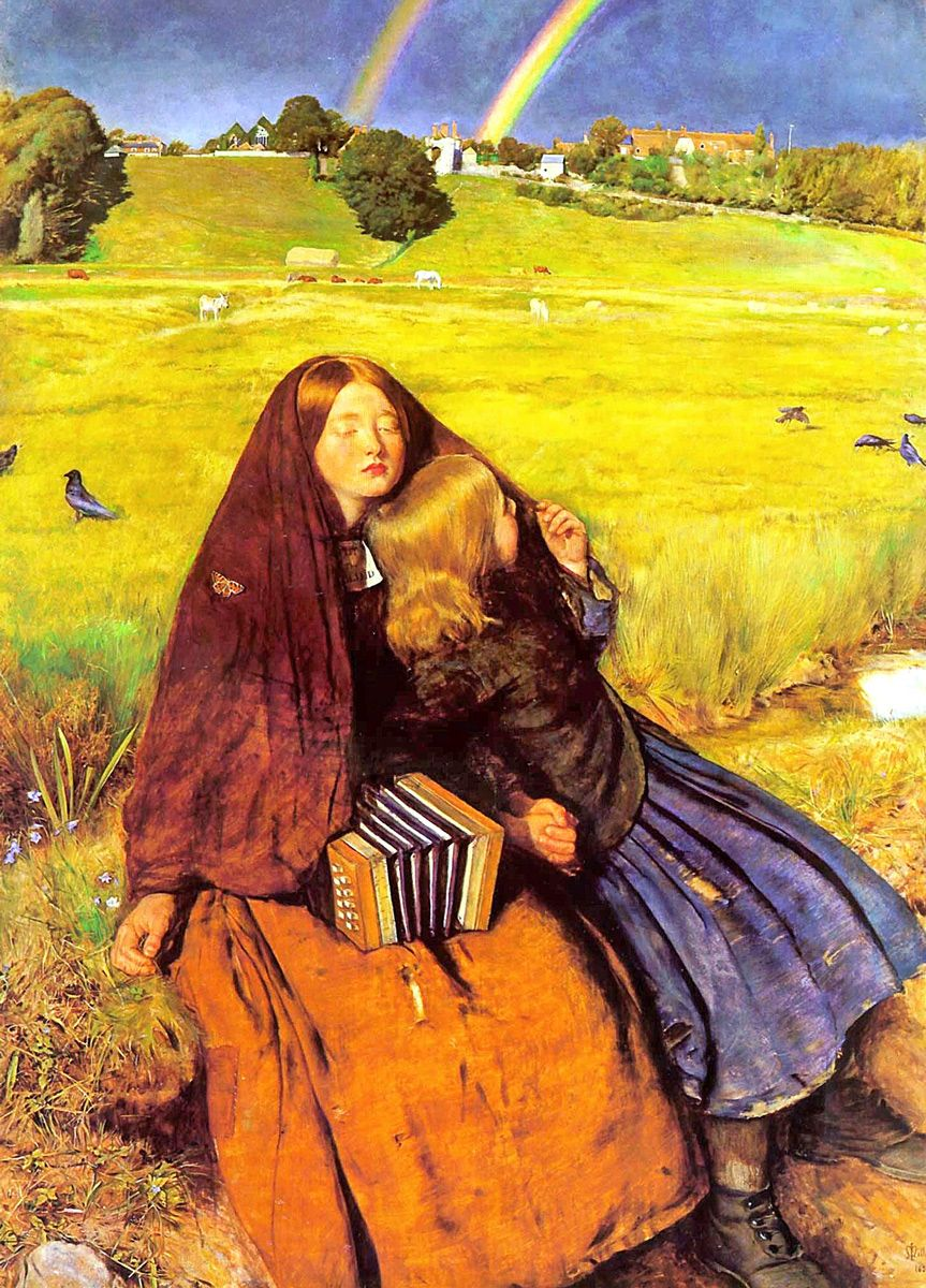 John Everett Millais: The Blind Girl, 1856
