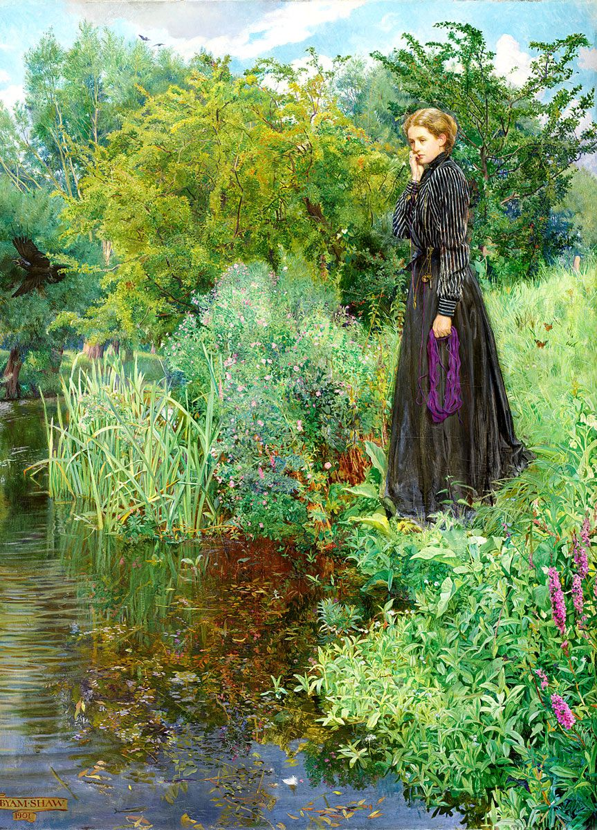 John Liston Byam Shaw: Last Summer Things Were Greener, 1901