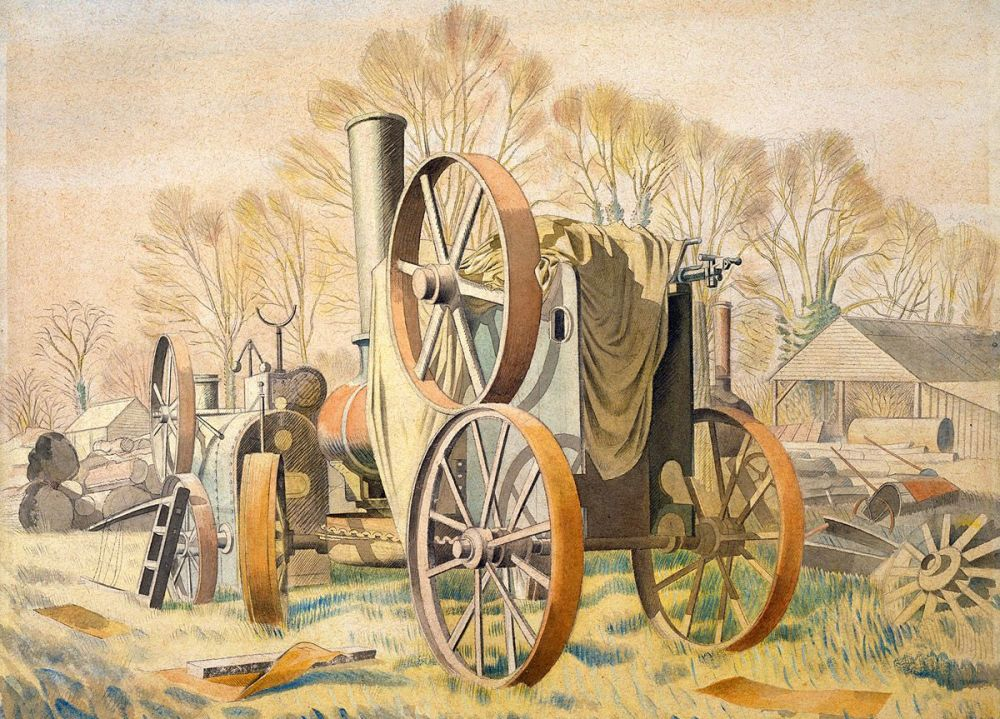 Eric Ravilious: The Tractor, 1933