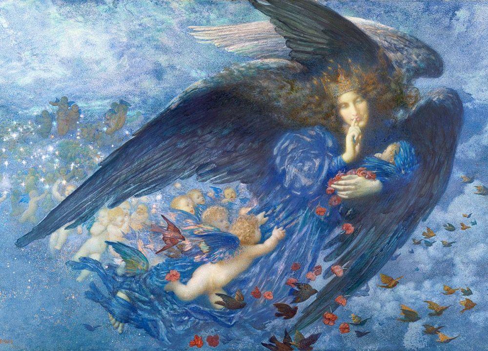 Edward Robert Hughes: Night with her Train of Stars, 1912