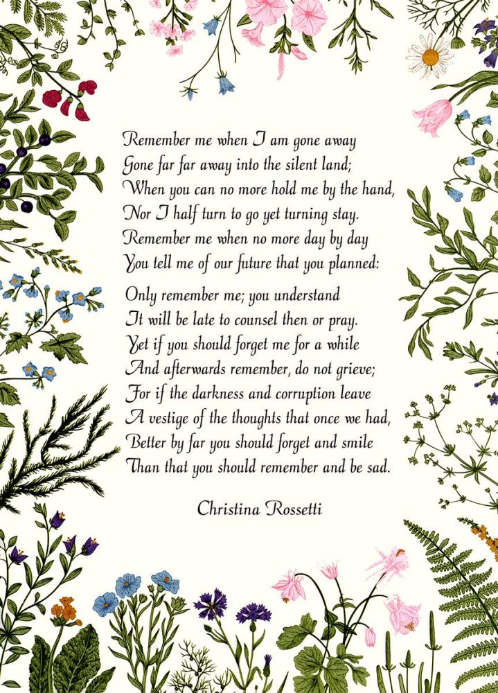 Christina Rossetti: Remember