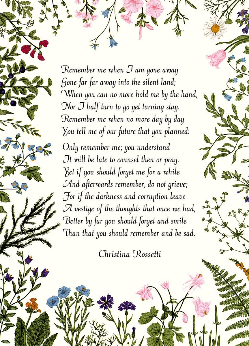 Christina Rossetti: Remember