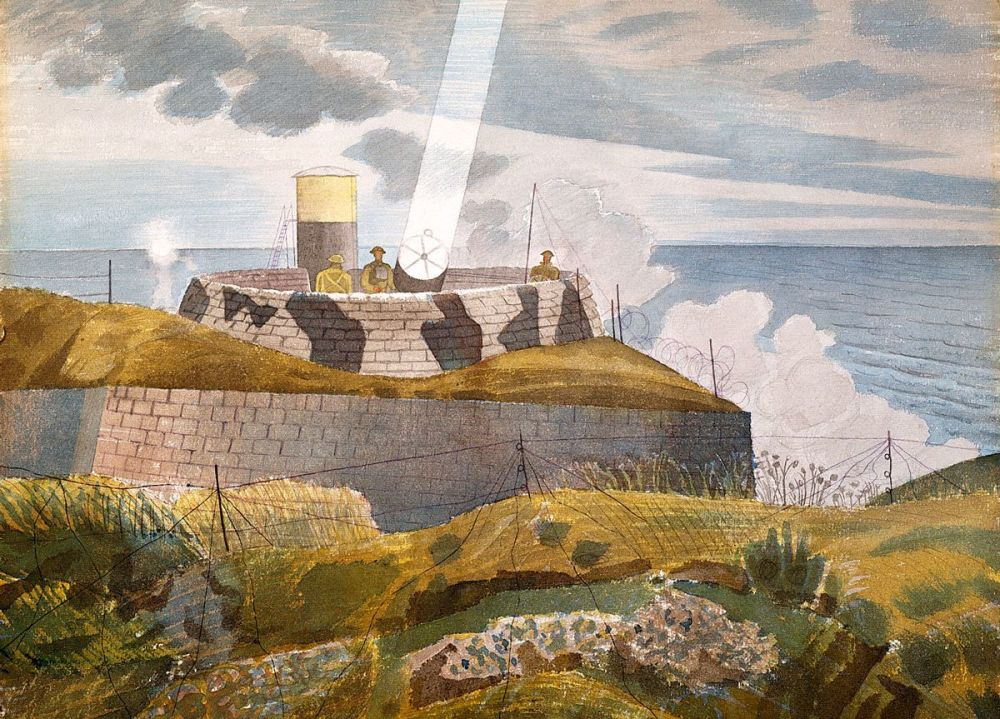 Eric Ravilious: Searchlight at Dusk, 1941