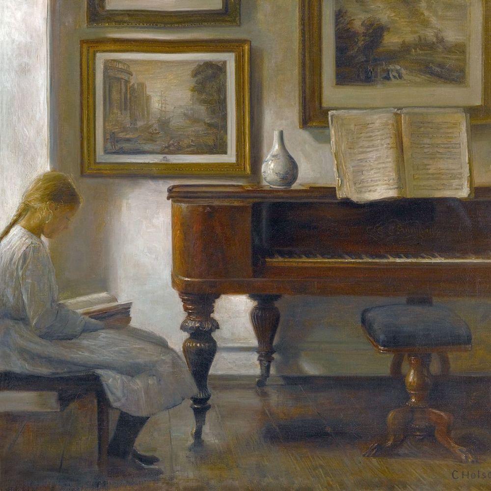 Carl Holsøe: Girl in an Interior, 1900 (detail)