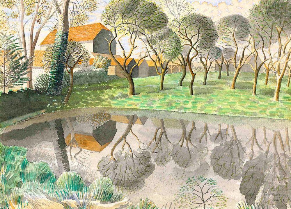 Eric Ravilious: Newt Pond, 1932