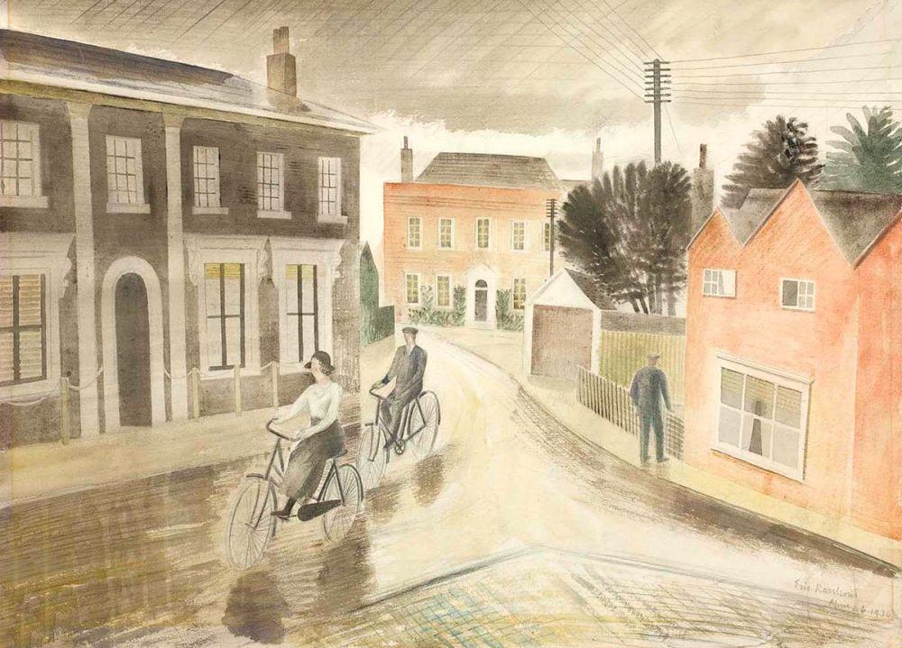 Eric Ravilious: Village Street, 1936