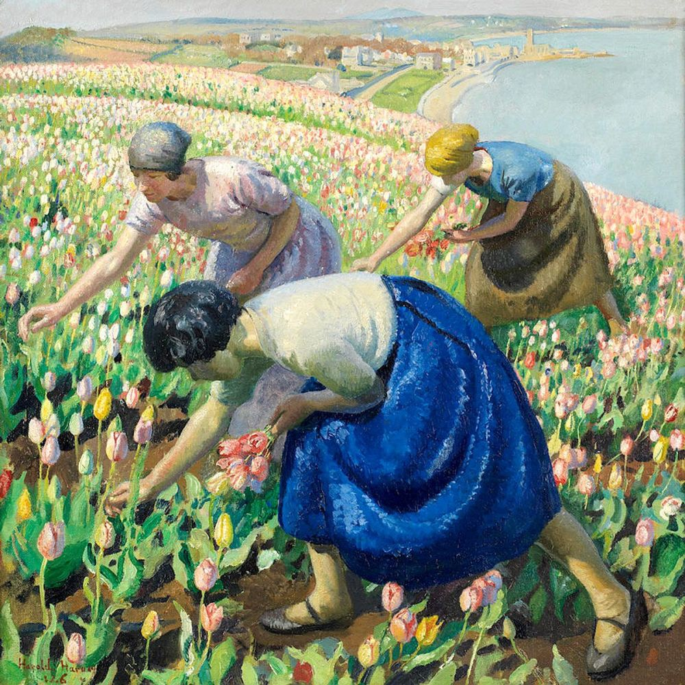 Harold Harvey: Tulip Pickers, 1926