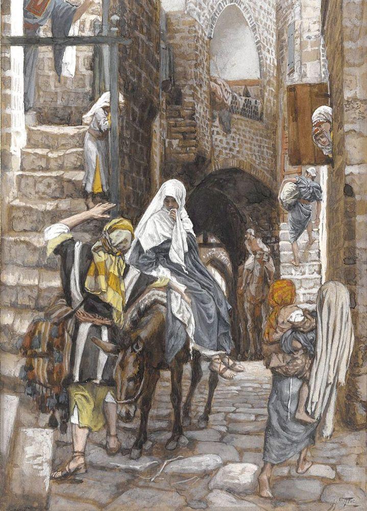 James Tissot: Saint Joseph Seeks a Lodging in Bethlehem