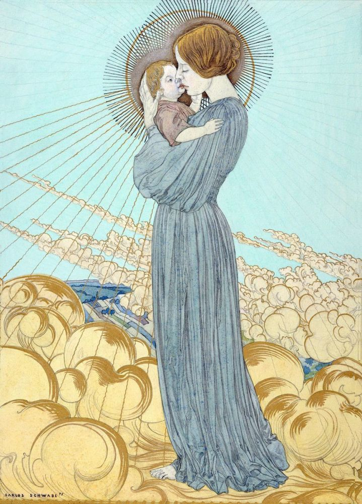 Carlos Schwabe: The Madonna and Child, 1895