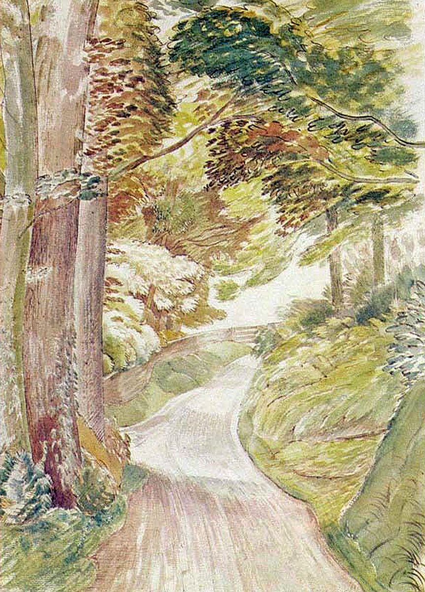 Eric Ravilious: Eastdean Road, Sussex