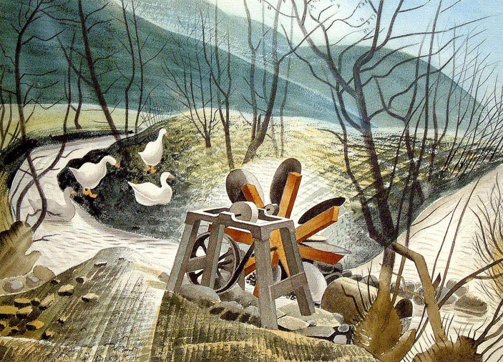 Eric Ravilious: The Water Wheel, 1938