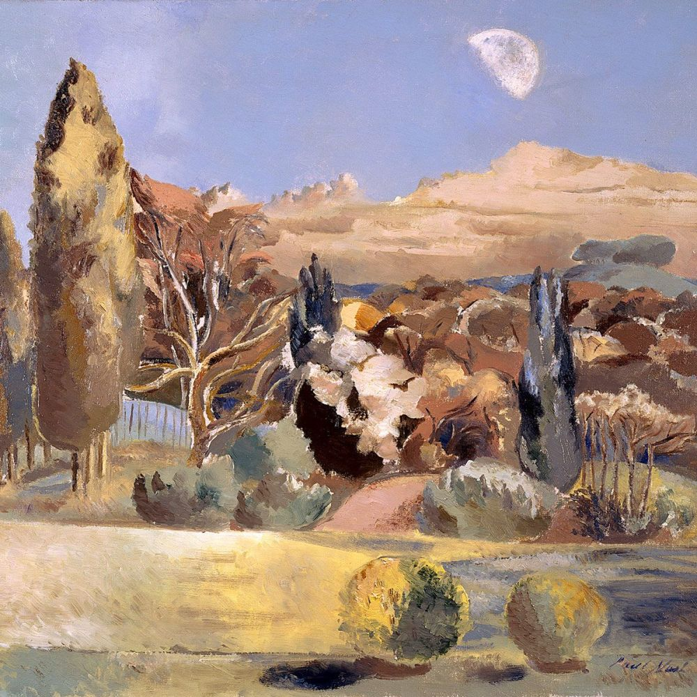Paul Nash: Landscape of the Moon's First Quarter, 1943