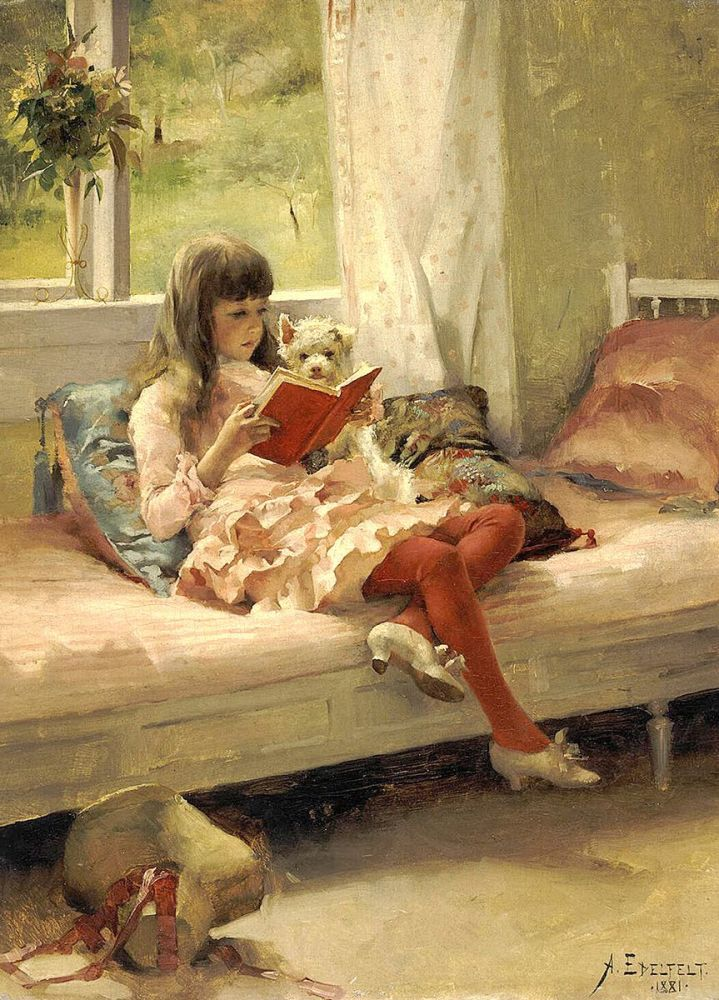 Albert Edelfelt: Good Friends, 1881