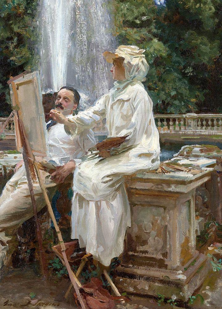 John Singer Sargent: The Fountain, Villa Torlonia, Frascati, Italy