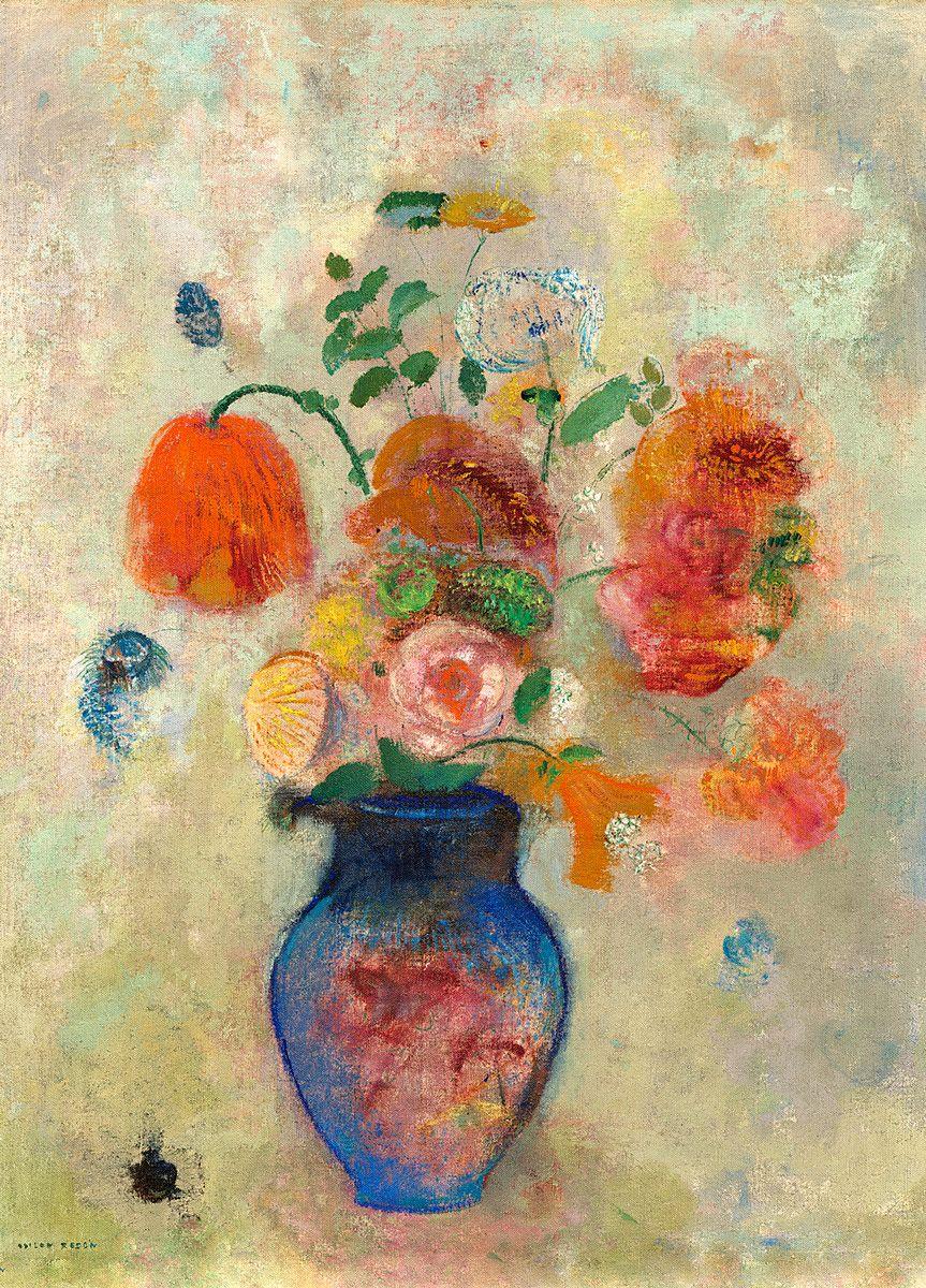 Odilon Redon: Large Vase with Flowers, 1912