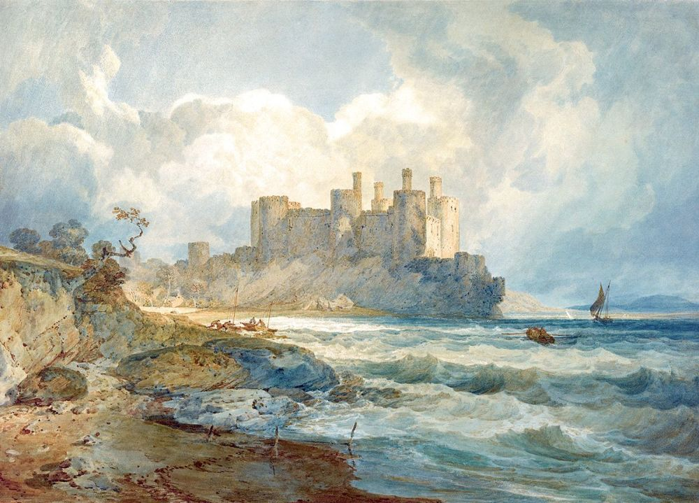 Joseph Mallord William Turner: Conway Castle, North Wales, 1798