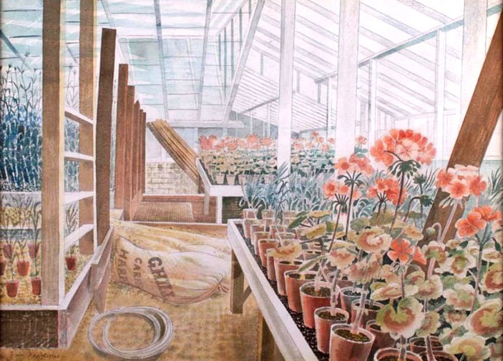 Eric Ravilious: Geraniums and Carnations, 1938