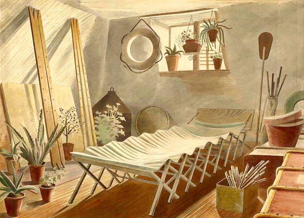 Eric Ravilious: The Attic Bedroom