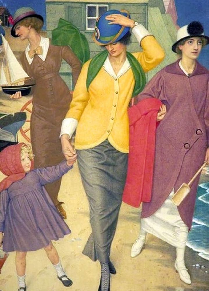 Joseph Edward Southall: Along the Shore, 1910