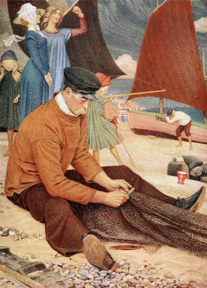 Joseph Edward Southall: The Beach, 1911