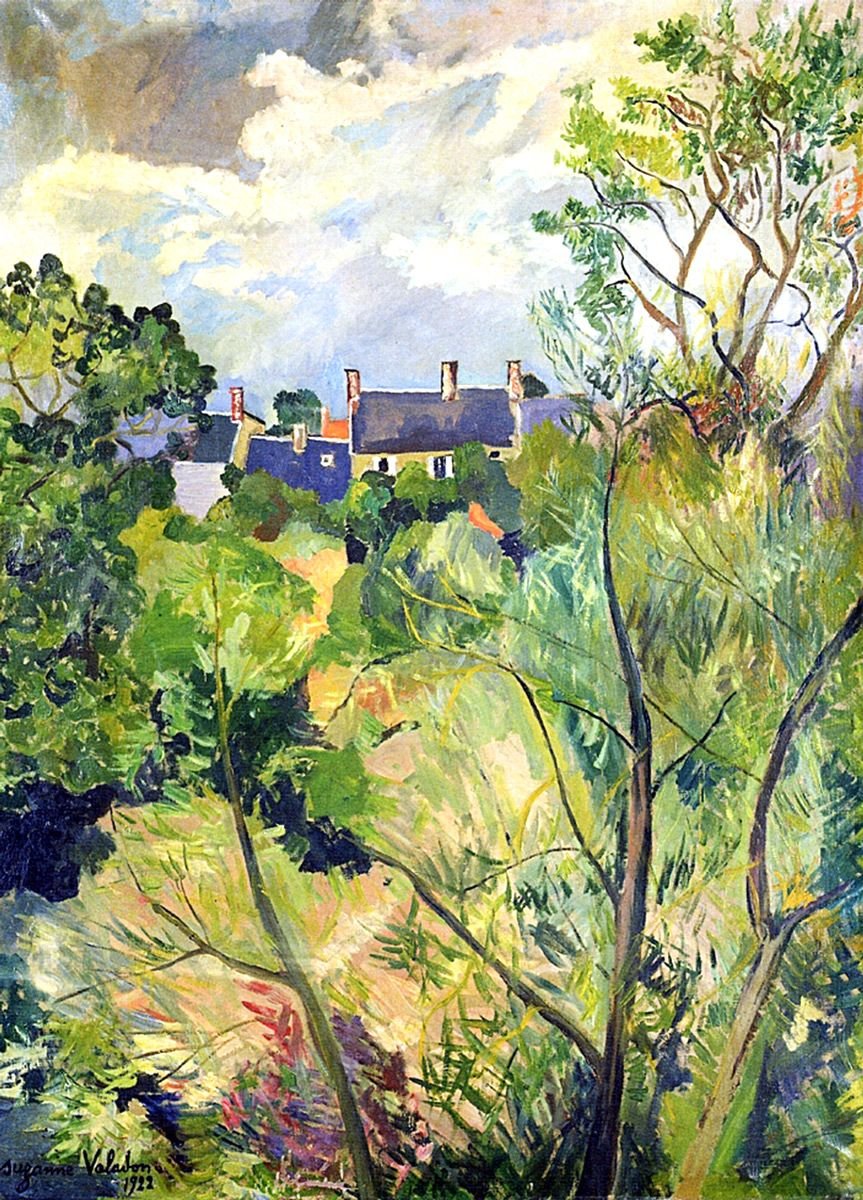 Suzanne Valadon: View from My Window in Genets (Brittany), 1922