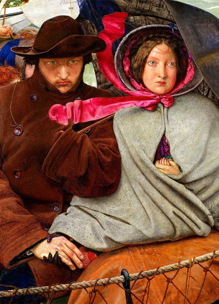 Ford Madox Brown: The Last of England, 1855 (detail)