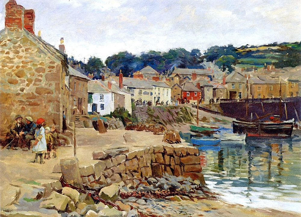 Stanhope Alexander Forbes: Mousehole, near Newlyn, Cornwall, 1919