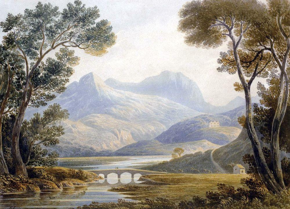 John Varley: Snowdon, North Wales, 1802