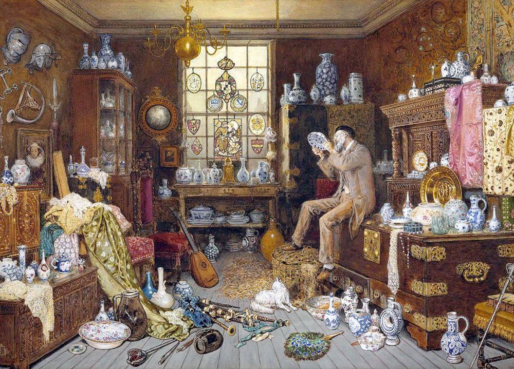 Myles Birket Foster: The Old Curiosity Shop