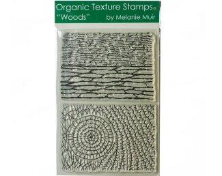 Melanie Muir Organic texture stamp Woods